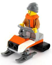 LEGO City Schneemobil und Minifigur Fahrerin aus Set 60235, NEU