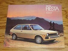 Original 1980 Ford Fiesta Sales Brochure 80 Sport Ghia