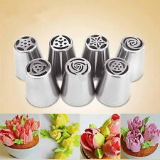 NEW 7PC Russian DIY Pastry Cake Icing Piping Decorating Nozzles Tips Baking Tool