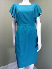 Calvin Klein Women's Green/Teal Dress W/Ruffled Sleeve~ Size 8