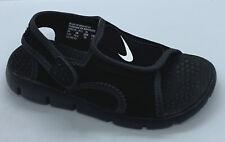 Boys Nike Sunray Adjust4 Size 11C Toddler Kids Black Sandals NEW W/ Tags