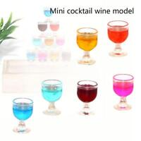 Super 1:12 Dollhouse Mini Round Cocktail Glass Drinking Doll House Decor