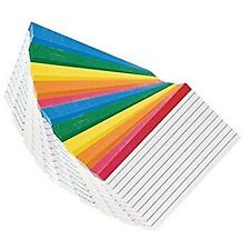 Color Coded Bar Ruled Index Cards 3 X 5 Assorted Colors 10 Packs Of 100 Cards