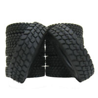 4pcs Set Climbing Rubber Tires Tyres For 1:14 Tamiya Tractor Truck Trailer Car
