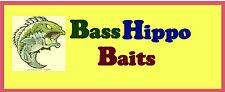 "Basshippo Baits Tubes 3 1/2""  Pack 15  smoke silver"