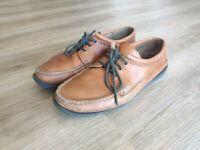 Quoddy Blucher Moc Whiskey Tan Leather Vibram Sole 10D MiUSA