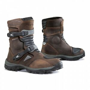 Forma Adventure Leather Enduro ATV Touring Waterproof Low Motorcycle Boots-Brown