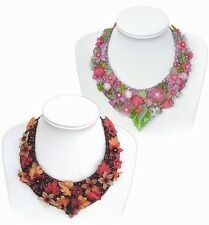 Flower Bead Collars INSTRUCTIONS - Bead Embroidery, suitable for beginners!