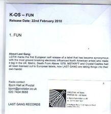 (BR992) K-OS, Fun - DJ CD