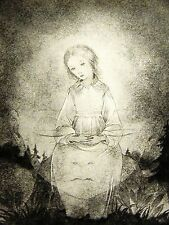 Sulamith Wulfing 1932 GIRL CHILD w A HALO in the NIGHT Art Print Matted