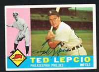 Ted Lepcio #97 signed autograph auto 1960 Topps Baseball Trading Card