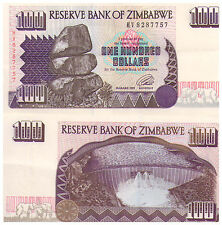 1995 $100 Zimbabwe Banknote - about Uncirculated