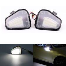 2Pcs LED Side Mirror Puddle Lights No Error For Vw Volkswagen EOS Passat B7 CC