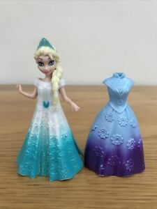 * DISNEY PRINCESS FROZEN MAGICLIP Queen ELSA Doll & 2 Dresses Mattel *