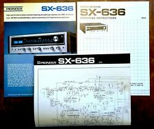 New ListingPioneer Sx-636 Stereo Receiver Brochure, Owners Manual, and Large Schematic