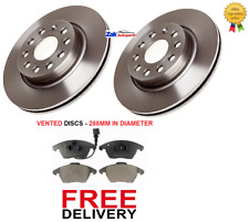 FOR SKODA OCTAVIA MK2 1.9 2.0 TDi (05-12) 2 FRONT BRAKE DISCS AND PADS SET NEW