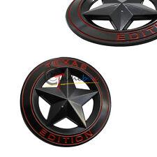 (1) Black Metal 3D Texas Edition Rear Emblem Badges For Ford F-250 F-350, etc