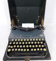 Smith Premier Portable/USA, Reiseschreibmaschine im Koffer 20er J.,Vintage