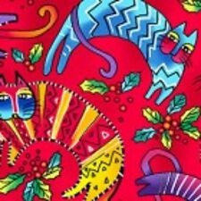 LAUREL BURCH~CATS  ***ENCHANTMENT*** Y1963-4   LIGHT RED  ~ FAT QUARTER!!!
