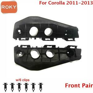 For Toyota Corolla 2011 2012 2013 Bumper Bracket Front Pair Beam Mount Support
