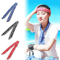 Gym Sports Head Wrap Band Cooling Towel Cooler Body Neck Tie Headband Ice Scarf