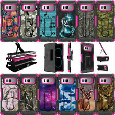 For Samsung Galaxy Note 8 N950 (2017) Holster Clip Stand Pink Case Camos