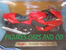 MOTO1/18 KAWASAKI NINJA ZX 14 ROUGE 1996  MOTORCYCLE MAISTO
