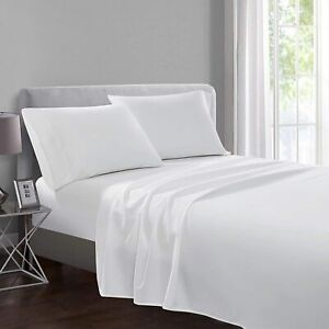 New 100/% Egyptian Cotton Flat Sheet Bed Sheets 200T Single Double King SuperKing