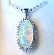Opal Beauty Gemstone Oval Costume Necklaces & Pendants
