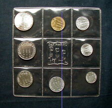 1975 San Marino (Italy) complete official set coins with silver UNC animals