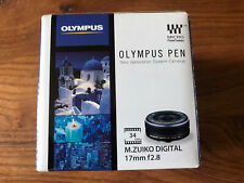 Olympus Pen M.Zuiko Digital 17mm f2.8 MFT camera lens - Boxed and Unused