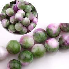 Natural Green Persian Jade Gemstone Stone Loose Spacer Beads Findings 6/8/10MM