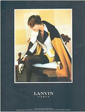 ▬► PUBLICITE ADVERTISING AD Haute Couture LANVIN 1991
