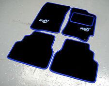 negro / Azul Super Velvetón Alfombras de coche - Subaru Impreza Clásico (92-00)