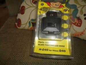 Hoodman Flip Up LCD Hood H-D40 for Nikon D40 New - Original Packaging