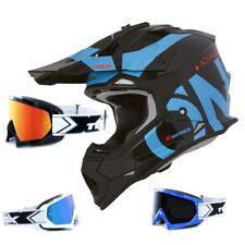 Oneal 2Series Rl Casco Cross Mancha Negro Azul TWO-X Carrera Gafas MX Motocross