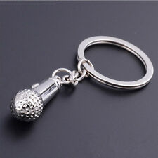 New Music Microphone Pendent Keychains Keyring Key Chains Ring