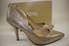 NIB MICHAEL KORS Size 7.5 Womenu0027s Silver Sand Glitter NATHALIE Flex High  Pump