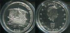 GHANA 2002 - 500 Sika in Silber, PP - SCHIFFE Phoenician Navigators