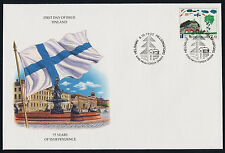 Finland 896 on FDC - Children's Art, 75 Years of Independence
