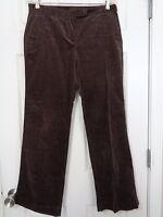 Ann Taylor Loft Women's Corduroy Pants Marisa Fit Brown Size 8