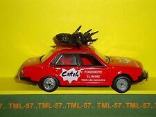 Voiture 1/43e Atlas TOUR DE FRANCE Norev Renault R 18 CATCH Caravane 1979