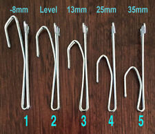 30x Curtain HOOKS 2 PRONG slip in PINCH PLEAT 5 sizes to choose from
