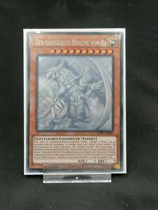 YUGIOH! Der Geflügelte Drache von Ra LED7-DE000 Ghost Rare DE NM 1.Auflage