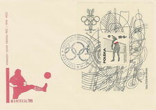 Poland FDC (Mi. B65) Olympic games Montreal #1