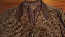 Ermenegildo Zegna men's brown 100% cashmere pure Jacket coat Size XXL/56