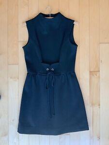 Vintage Women's Black Dress 1950's Jonathan Logan sleeveless petite rhinestones