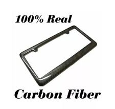 REAL 100% CARBON FIBER LICENSE PLATE FRAME TAG COVER ORIGINAL 3K TWILL JDM /FF