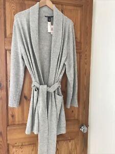 Victoria Secret Luxurious Pure Cashmere Light Grey Cardigan Size Large Gorgeous!