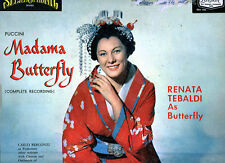 Puccini Madama Butterfly Complete Recording 4 LP Records Album with Cover